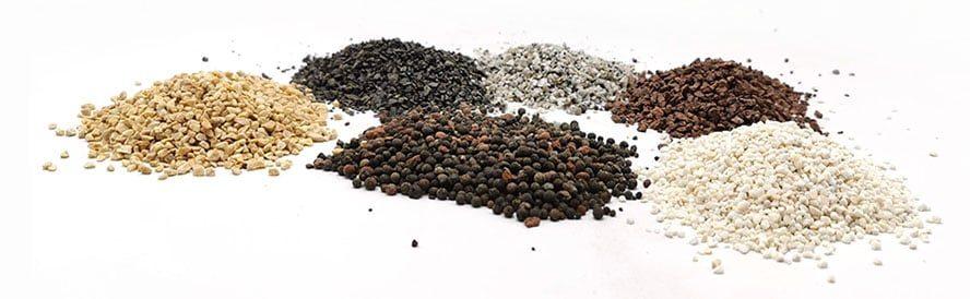 Minerały z których stworzono Gryty: Pieprz Ceramiczny i Kompletne Zęby Gołębia